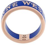 Vivienne Westwood logo band ring