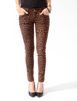 Forever 21 Sueded Leopard Print Skinnies