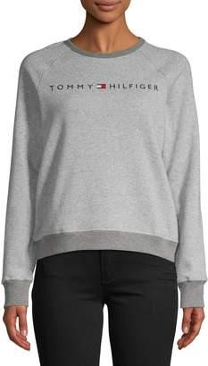 Tommy Hilfiger Logo Raglan-Sleeve Cotton-Blend Sweatshirt