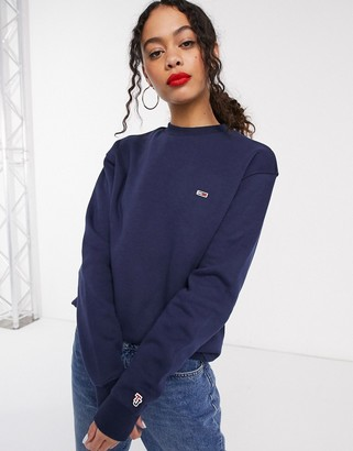 Tommy Jeans organic cotton classic sweatshirt in navy
