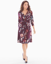Soma Intimates 3/4 Sleeve Twist Front Short Dress