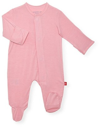 Magnetic Me Baby Girl's Silky Soft Solids Magnetic Footie