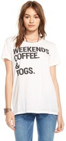 Chaser Weekends, Coffee, Dogs Tee in White