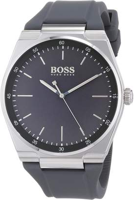 HUGO BOSS Unisex-Adult Analogue Classic Quartz Watch with Silicone Strap 1513564
