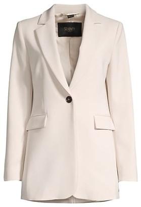 Seventy Crepe One-Button Blazer