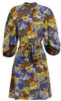 Prada Hydrangea-print silk-crepe dress