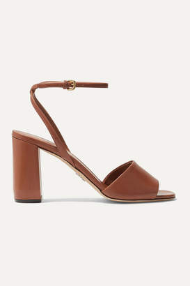 Prada 85 Leather Sandals - Brown