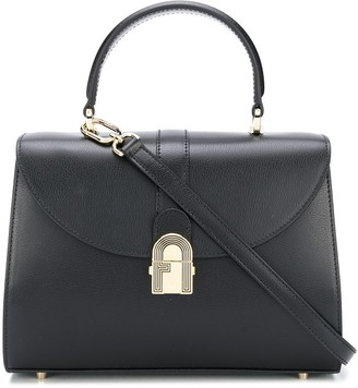 Furla Logo-Plaque Tote Bag