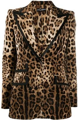 Dolce & Gabbana leopard pattern blazer