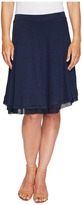 Three Dots Linen Jersey Chiffon Trimmed Skirt Women's Skirt