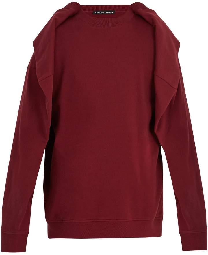 Y/Project Oversized overlay-detail cotton sweatshirt