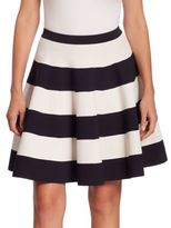 Akris Punto Striped Circle Skirt
