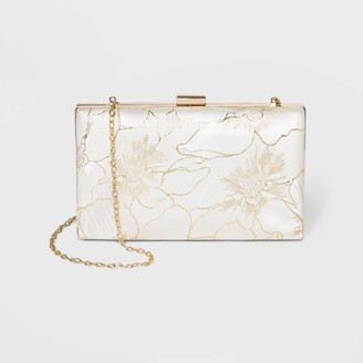 Estee & Lilly Etee & Lilly Floral Print Mini Clutch - Ivory