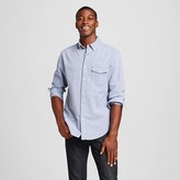 Merona Men's Seersucker Long Sleeve Button Down Shirt