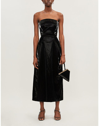 Camilla And Marc Alexie strapless shell midi dress