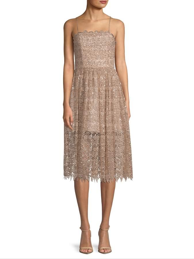 Alice + Olivia Women's Beaded Lace Dress