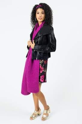 francesca's June Wide Lapel Moto Jacket - Black