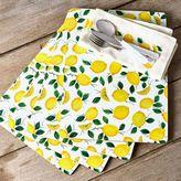"""Sur La Table Lemon Cork-Backed Placemats, 11.5"""" x 15.75"""", Set of 4"""