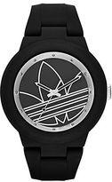 adidas Matte Black Silicone and Silvertone Logo-Print Watch