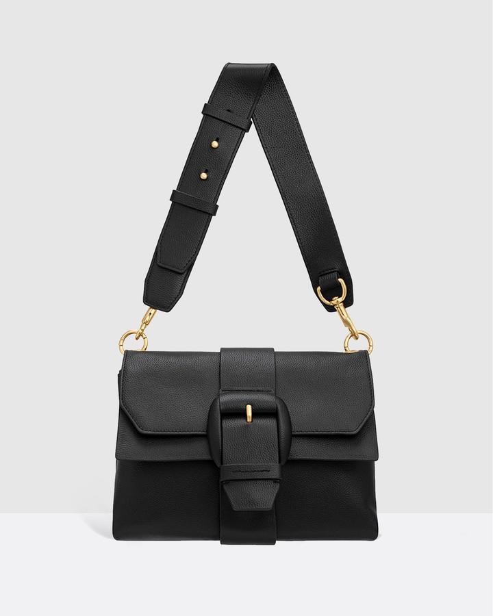 Oroton Women's Black Leather bags - Frida Soft Medium Satchel - Size One Size at The Iconic
