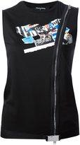 DSQUARED2 zip detail tank top - women - Cotton - M