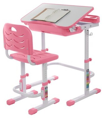 """Isabelle & MaxTM Marnie Study 23.3"""" W Art Desk and Chair Set Isabelle & Max Color: Pink"""