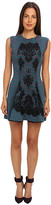 M Missoni Spacedye Doubleknit w/ Lace Overlay Dress