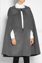Oscar de la Renta Hooded Orylag-blend cape