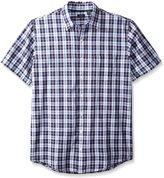 Arrow Men's Big-Tall Short Sleeve Sea Jack Textures Shirt