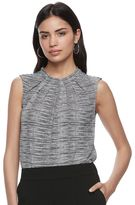 Elle Women's ELLETM Pleated Crepe Blouse