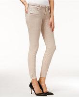 GUESS Power Zip-Detail Overdye Wash Skinny Jeans