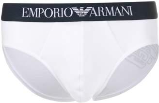 Emporio Armani logo trim boxer briefs