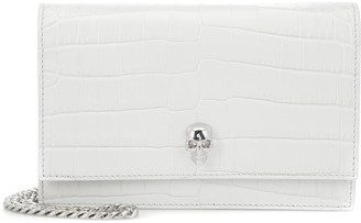 Alexander McQueen Skull Mini croc-effect crossbody bag