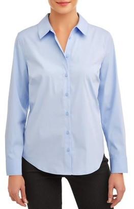 Time and Tru Women's Classic Career Shirt