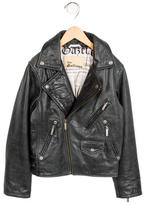 John Galliano Boys' Graphic Leather Jacket