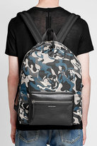 Alexander McQueen Camouflage Printed Backpack with Leather