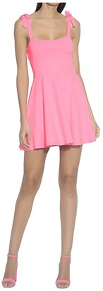 Susana Monaco Tie Strap Flare Dress (Knockout Pink) Women's Dress