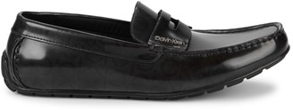 Calvin Klein Ivan Monogram Leather Penny Loafers