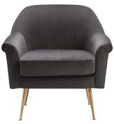Ophelia Armchair Elle Decor Upholstery Color: Charcoal Gray