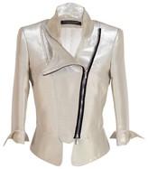 Octavio Pizarro Asymmetric Gold Jacket