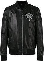 Philipp Plein skull bomber jacket - men - Lamb Skin/Acetate - M