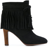 See by Chloe fringed ankle boots - women - Leather/Suede/rubber - 35