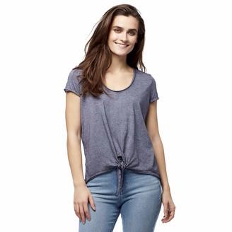 William Rast Women's Astrid Tie Front Vneck Tee Shirt