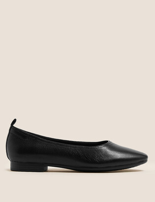 Marks and Spencer Leather Soft Toe Ballet Pumps
