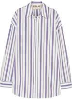 Awake Oversized Striped Cotton-poplin Shirt