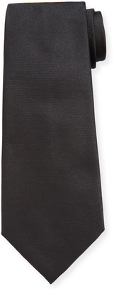 Ermenegildo Zegna Men's Solid Ribbed Silk Tie