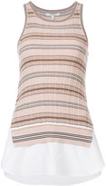 Derek Lam 10 Crosby ribbed layered tank - women - Cotton - XS