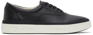 Salvatore Ferragamo Black Leather Ripley Sneakers
