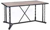 Acme Jodie Dining Table - Rustic Oak and Antique Black