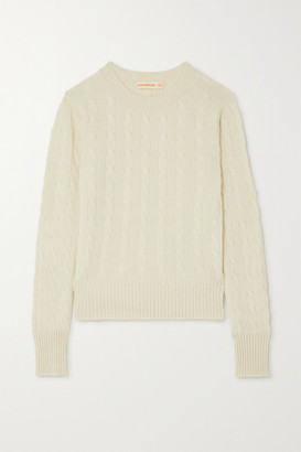 &Daughter Nora Cable-knit Cashmere Sweater - Cream